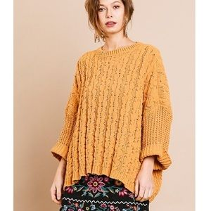 Umgee   chunky chenille sweater